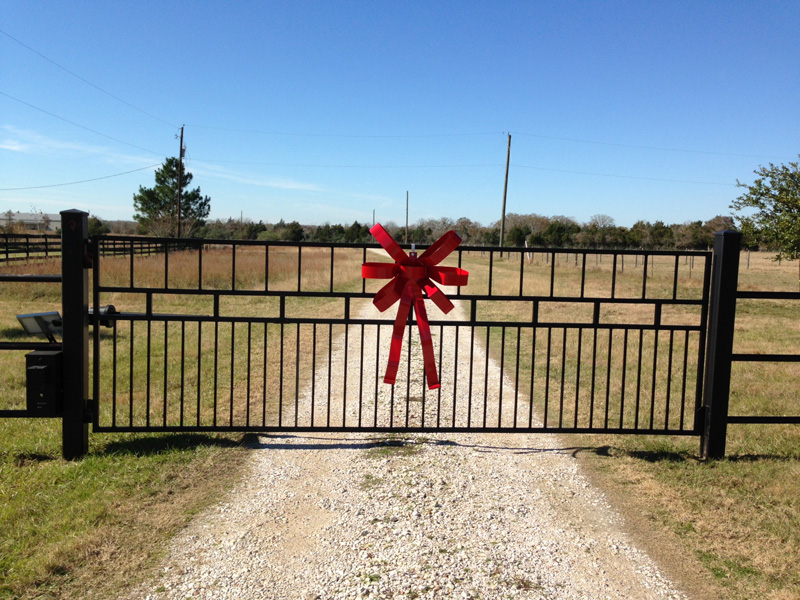 Christmas Bow for Gated Ranch